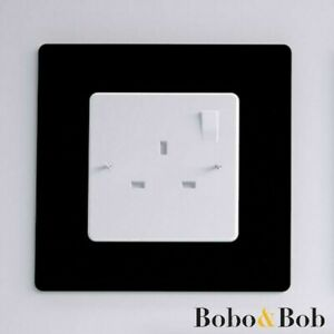 Light Switch Socket Surrounds - Single or Double - Finger Plate - Wall Protector