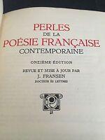 perles de la poesie francaise .contemporaine onzieme edition (leather bound )