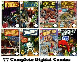 CREATURES, MONSTERS, CHAMBER Comics Collection Complete Run MARVEL 1969 on DVD