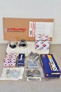 Ford 289 302 Engine Rebuild Kit Pistons Rings Bearings Oil Pump Gaskets SBF