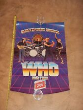 Vintage, Original The Who 1982 Tour Concert Poster, Schlitz Rocks America
