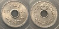 Fiji 1967 Penny - PCGS MS65 GEM UNC