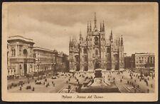 AX0676 Milano - Piazza del Duomo - Cartolina postale - Postcard