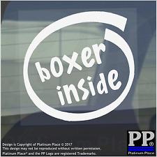 1 x BOXER all'interno-Finestra, Auto, Furgone, STICKER, SEGNO, veicolo, Guanti, Anello, PUGILATO, Borse, Pad