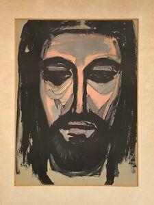 ORIGINAL GEORGES ROUAULT LITHOGRAPH HEAD OF CHRIST OTTO WOHLLEBEN ART PROVENANCE