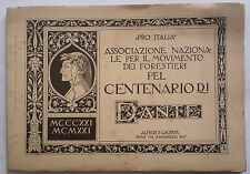CENTENARIO DANTE ALIGHIERI PRO ITALIA 1921