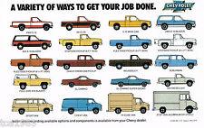 1983 Chevy Truck Brochure :4x4,PickUp,BLAZER,SUBURBAN,S10,VAN,EL CAMINO,Diesel,