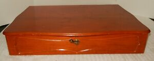 Case Flatware Wooden Storage Chest Silverware/plate Felt/Satin lined