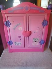 Build A Bear Clothes Storage Beararmoire Fashion Case Wardrobe Armoire Pink