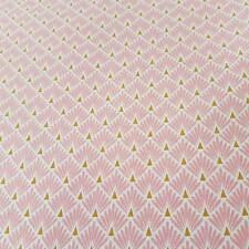 Stoff Baumwollstoff beschichtet rosa Raute Fächer Japan abwaschbar Tischdecke