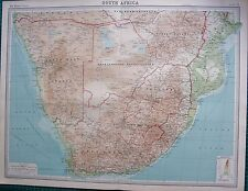 1922 LARGE ANTIQUE MAP- SOUTH AFRICA