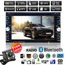 "6.2"" doppio 2 DIN Stereo Auto DVD CD Player Bluetooth Radio SD USB TV FM +Camera"