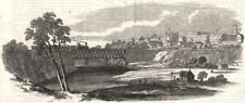 London, Ontario, with the Great Western Railway bridge across the Thames, 1854