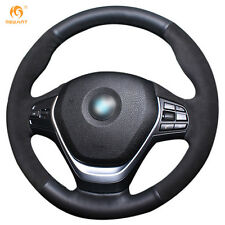 DIY Suede Leather Steering wheel Cover for BMW F20 F45 F30 F31 F34 F32 #01113