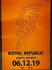 ROYAL REPUBLIC  2019 MÜNCHEN - orig.Concert Poster -- Konzert Plakat NEU