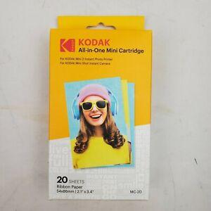 Kodak All-In-One Mini Cartridge 20 Sheets Mini 2 Photo Printer Paper Mini Camera