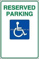 Reserved Parking Sign Safety Signs Australian Made Quality Printed Sign