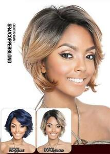 BS125 | BLACK | WAVY HUMAN/SYNTHETIC LACE PART WIG | MANE CONCEPT