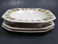 """Mikasa Romantics Line  Florentine 2 Salad Plates 1Soup Bowl 8.5"""" Lot of 3 Pieces"""