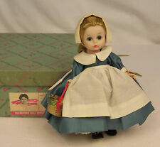 "1962 Madame Alexander Kins COLONIAL GIRL #789 BENT KNEE WALKER 8"" Wendy Doll MIB"