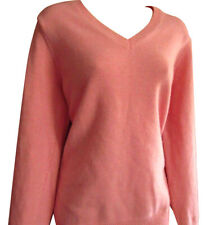 GANT Womens Cotton V-neck Jumper / Top  - Red