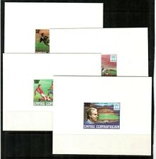 Central Africa Scott 303-7 Mint NH (5 deluxe proof sheets) - Soccer