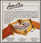 Jean d'Eve Swiss watches print ad 1989 Sectors