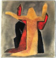 Email-Platte Bildplatte Emaille Bild Gemma Wolters-Thiersch Giebichenstein 1938