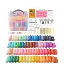 Polymer Clay, Farielyn-X 60 Colors 1 oz/Block Soft Oven Bake Modeling Clay Ki...