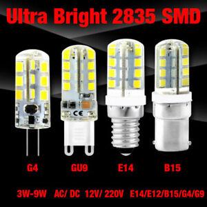 G4/G9/E12/E14/B15 3/4/5/7/8/9W LED Corn Bulbs Cool Warm White 12/220V Lamp Light