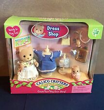 Calico Critters CC2283 Margaret & Halley's Dress Shop NEW IN BOX Immaculate