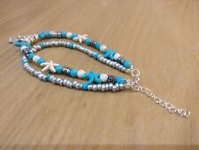 Adjustable Turquoise Chain(New) Ankle Bracelet 2 Layer