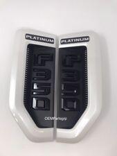 OEM 17+ Ford Super Duty F-350 Platinum Fender Vent Set White Platinum (UG)/Black
