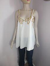 Ladies Topshop Boutique sequin front longline vest top tunic size 10 UK 38 Eur