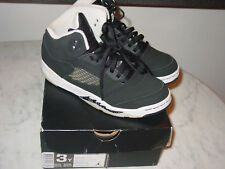 "2013 Nike Air Jordan Retro 5 ""Oreo"" Black/Cool Grey Youth Shoes Size 3Y w/Box!"