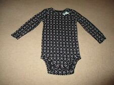 NEW Baby Girl's 18 Month Black Floral Long Sleeve Bodysuit by Carters