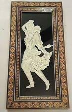 Persian Artwork Hand Cutting Cut-out A Piece Plastic Sheet + Khatam Inlaid Frame