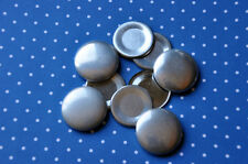 DIY 50 x self cover metal flat back buttons size 36 (23mm)
