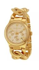 Michael Kors MK3131 Runway Gold Chain Bracelet Chronograph Womens Watch