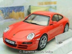 PORSCHE 911 S CAR 1/43RD SCALE MODEL RED PACKAGED CARARAMA ISSUE BOXED K8967Q~#~