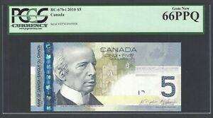 Canada 5 Dollars 2010 BC-67bi Uncirculated Grade 66