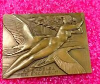 1945 Allied Aviation Art Deco bronze French medal by Delamarre