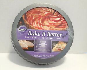 "Wilton Bake it Better Tart / Quiche Round Pan 9"" Diameter 1.125"" Deep - NEW"