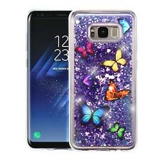 For Samsung Galaxy S8 / S8 PLUS Liquid Glitter Quicksand HARD Case Phone Cover
