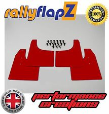 rallyflapZ to fit  AUDI TT Coupe  (1999-2006) Mud Flaps Mudflaps Red 3mm PVC