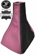 BLACK & PINK REAL LEATHER GEAR GAITER FITS VAUXHALL OPEL ASTRA MK3 III F 91-98