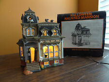 Dept 56 34050 Haunted Mansion Manor House Animated Black Roof Halloween Village
