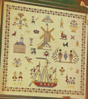 Dutch Sampler Re-Creation Counted Cross Stitch Pattern chart from magazine