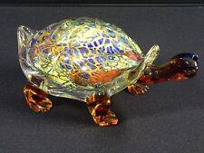 "Vtg Original Murano Glass Cristalleria Hand Blown Huge Turtle Sculpture 12.5"""