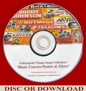 PRINT VINTAGE MUSIC / POP CONCERT POSTERS, FLYERS ☆ 200x Enhanced Images